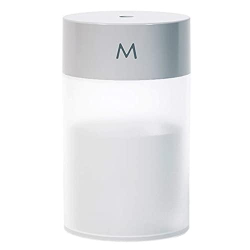 Difusor humidificador de niebla de 260 ml, portátil, colorido, luz nocturna, silencioso, frío, humidificador de escritorio, alimentado por USB, sin agua, con apagado automático, humidificador para el