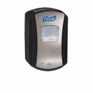 GOJO Industries 315-1328-04 PURELL LTX-7 Touch Free Dispenser, Brushed Chrome/Black