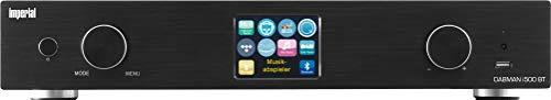 Imperial DABMAN i500BT HYBRID-HiFi-Tuner (WLAN/LAN/DAB+/DAB/UKW/Bluetooth, TFT Farbdisplay, USB, Cinch, Optischer und elektrischer Digitalausgang, Fernbedienung, App Steuerung) schwarz