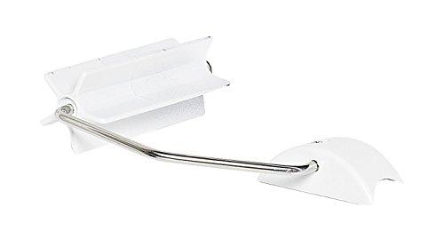 RIDDER Assistent Assistent A0130301 Papierhalter für RIDDER Assistent WC-Aufstehbügel, Kunststoff/Edelstahl, weiß, 17 x 12 x 4 cm