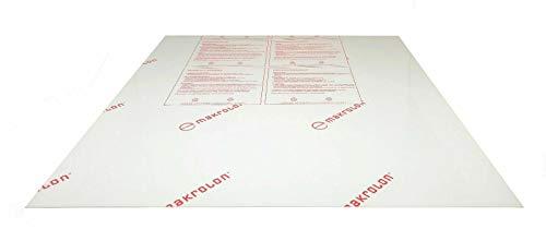 Policarbonato Makrolon de 0,75 mm, 2,05 x 1,25 m, transparente