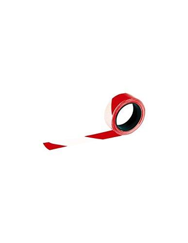 TALIAPLAST - SF54050 Absperrband, 100 m Länge x 5 cm Breite, Rot/Weiß 175625