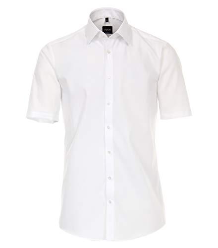 Venti Herren Businesshemd Kurzarm Uni Modern Fit Weiß 42