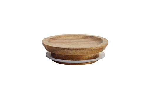 Acacia Wooden Lid for Weck and/or Oui Jars, Single, (1 Piece) (Plain)