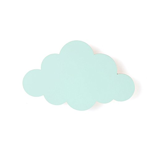ferm living Cloud wandlamp, gelakt multiplex, 6 W, mint, 25 x 40 x 6,5 cm