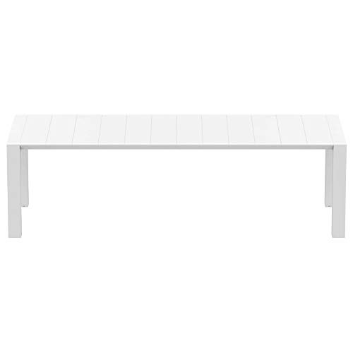 Compamia Vegas Wicker XL Dining Table in White