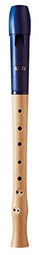 Moeck Blockflöte 1023 Flauto 1 Plus Ahorn Kopf aus Kunststoff/Königsblau