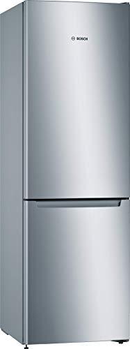 Bosch KGN33NLEB Serie 2 Freistehende Kühl-Gefrier-Kombination / E / 176 cm / 237 kWh/Jahr / Inox-look / 193 L Kühlteil / 89 L Gefrierteil / NoFrost / FreshSense