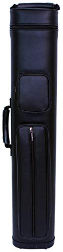 ASKA Hard 4x8 Pool Cue Case, Holds Up to 4 Butts and 8 Shafts, Choice of Styles (C48S01)
