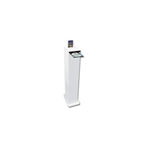 Inovalley HP32-CD-W - Torre de Sonido Bluetooth, Reproductor de CD, Color Blanco