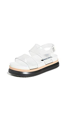 Melissa Women's Cosmic II Sandals, White/Clear, 10 Medium US