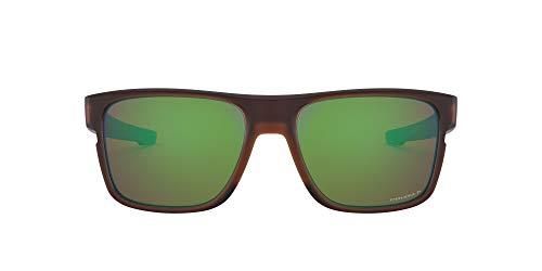 Oakley Herren Crossrange OO9361 Sonnenbrille, Schwarz (Matte Rootbeer), 57