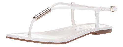 Katy Perry Women's The Jule Flat Sandal white 6 Medium US