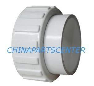 Maslin Universal 3,8 cm PVC Pool Spa Whirlpool-Pumpe Verschraubungsset, 3,8 cm Union Adapter Kit mit 48,5 Bindebändern für Pumpe und Heizung
