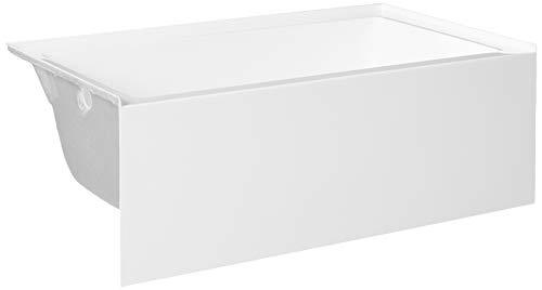 Kingston Brass VTAP603622L Aqua Eden 60-Inch Acrylic Alcove Tub with Left Hand Drain Hole, (L) x 36' (W) x 21-5/8' (D), White