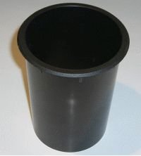 GSI BR100S, Bassreflexrohr 100mm x 14,90cm, Farbe: Schwarz, lose