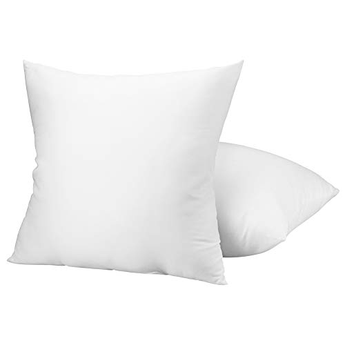 Yoobure 20x20 Pillow Insert Set of 2, Decorative Sham Throw Pillow Insert for Bed, Couch, Sofa, Car, Chair