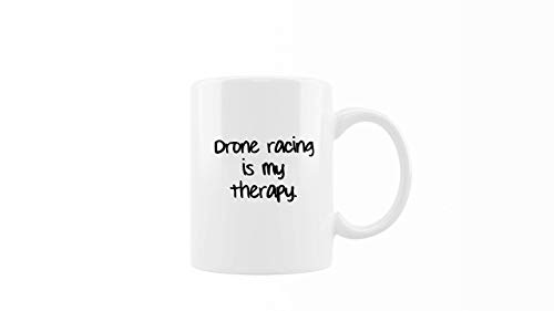 Taza de café – Drone Racing is My Therapy