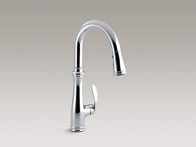 KOHLER K-560-CP Bellera Kitchen Faucet, Polished Chrome, 0.375