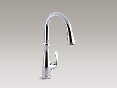 KOHLER Bellera Kitchen Faucet with Pull Down Sprayer, Kitchen Sink Faucet, Polished...