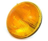 7' Sealed Beam Motorcycle Headlight - Amber - Vintage Cafe Racer...