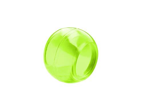 Prodecoshop 8 Schlaufenkugeln, Dekokugeln, Zierkugeln für Gardinen, Kunststoff, Ø Loch 16,5 mm, Apfel transparent