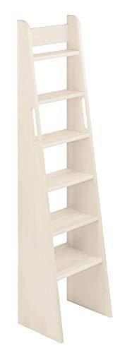 BioKinder 23811 Escalera de Mano Noah con Cama de Madera Maciza de Pino 160 cm Barnizado Blanco