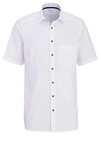 OLYMP Luxor Comfort fit Hemd Halbarm New Kent Kragen weiß Größe 47