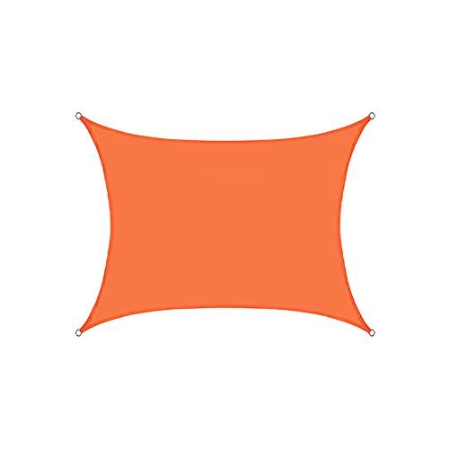 toldo que Toldos Impermeables Exterior, Toldo Vela De Sombra Rectangular Toldo Vela Impermeable, Protección Rayos UV, Toldo Resistente Para Patio, Exteriores, Jardín(Naranja)(Size:3*6M(9.8*19.7FT))