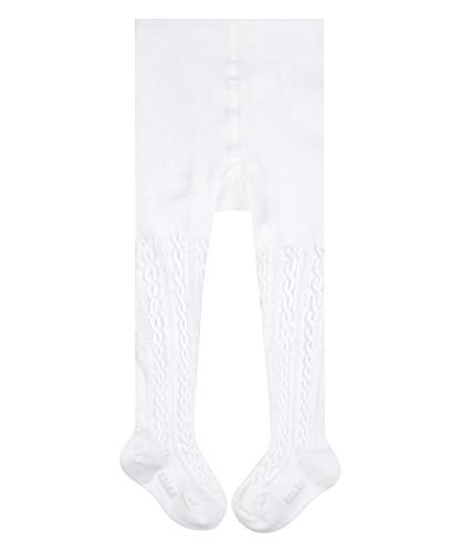 FALKE Unisex Baby Cable B TI Strumpfhose, Weiß (Off-White 2040), 1-6 Monate (62-68cm)