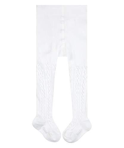 FALKE Unisex Baby Cable B TI Strumpfhose, Weiß (Off-White 2040), 12-18 Monate (80-92cm)
