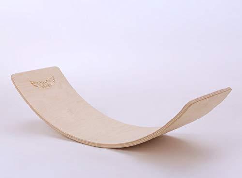 KateHaa Original Wooden Balance board, Tabla de equilibrio, tabla curva infantil, Juguetes Educativos, Laca ecológicaEco Lacquer, Waldorf Balance Board,