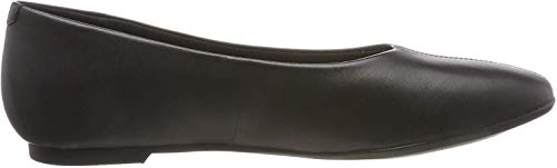Clarks Chia Violet, Bailarinas para Mujer, Negro (Black Leather Black Leather), 41 EU
