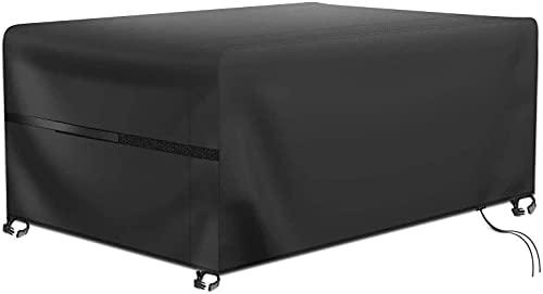 Oferta de RATEL Protectora para Muebles de jardín, Funda para Muebles de Jardín Impermeable a Prueba de Viento Paño Oxford 420D Cubierta de Mesa de jardín Grandes(242x162x100cm)