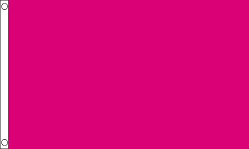 3 m x 2 m (90 x 60 cm uni Rose Cerise foncé 100% de réflexion Drapeau bannière Tissu en Polyester Idéal pour bar Club Festival Business School Décoration de Fête