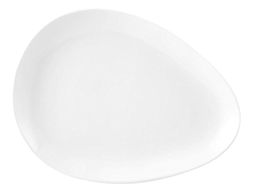 HOTELWARE Plat Oeuf, 32 x 24 cm, Porcelaine, Blanc