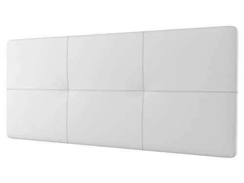 LA WEB DEL COLCHON - Cabecero tapizado Andrea para Cama de 150 (160 x 70 cms) Blanco