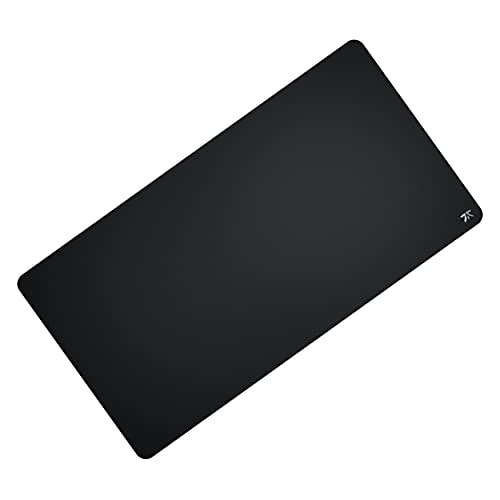 Fnatic Dash XD Extended Pro Gaming Mouse Mat for Esports with Stitched Edges and Anti-Slip Rubber Base, Fast Surface (Size XL Desktop, Black, Hybrid Fabric) - 37.4'x19.7'x0.12'