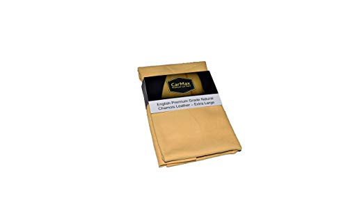 CarMAX English Premium Natural Chamois Leather Extra Large - Perfect for...