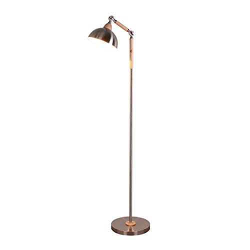 Lampara de pié Lámparas de pie for Sala de Estar Lectura Moderna Lámparas de pie for dormitorios Oficina LED Protección for los Ojos Luz de Piso de Madera Maciza lámpara de Piso (Color : A)