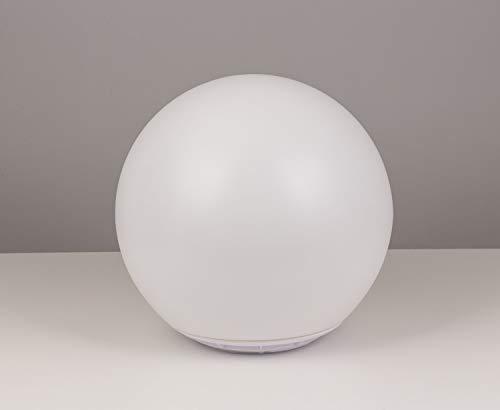 Heitronic Lampe décorative solaire Globo 37234 boule solaire LED 0.4 W RVBB blanc