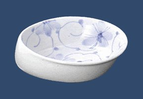 すくいやすい皿、強化磁器 中鉢