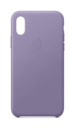 Apple Leder Case (iPhone XS) – Flieder