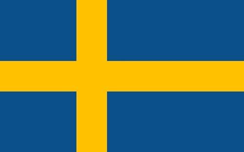 Qualitäts Fahne Flagge Schweden 90 x 150 cm mit verstärktem Hissband