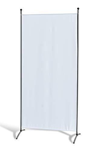 GRASEKAMP Qualität seit 1972 Stellwand 85 x 180 cm - Weiß - Paravent Raumteiler Trennwand Sichtschutz