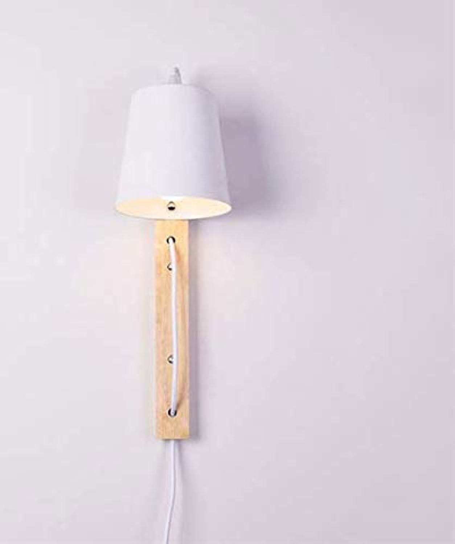 Moderne draht stecker holz + eisen wandleuchten e27 led wandleuchten für zuhause schlafzimmer nachttischlampe schwarz wei wandleuchte innengeschft beleuchtung