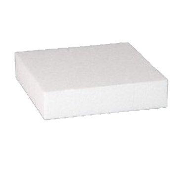 Base per Torta Quadrata in polistirolo per Cake Design Altezza 10 cm, Base a Scelta (Base 20x20 cm)
