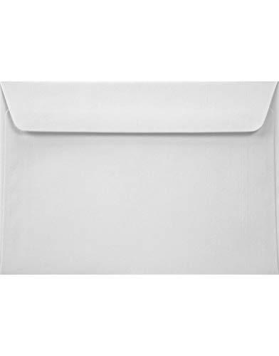 25 Natur-Weiß DIN C6 Umschläge ohne Fenster 114x162mm 100g Acquerello Bianco gerippte Umschläge in Weiß Briefumschläge aus Struktur-Papier Kuverts mit Rippung Briefhüllen strukturiert
