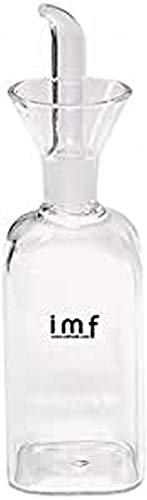 imf Aceitera Vinagrera Cuadrada con Dosificador Antigoteo, Glass, Multicolor, 125 cl