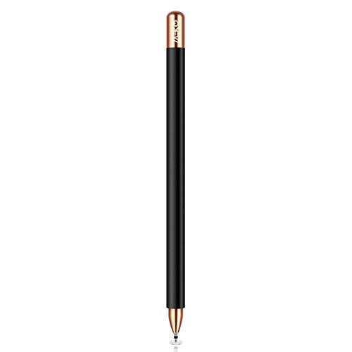 MEKO 2 in 1 Eingabestift Disc Touch Stift universal Touch Pen Stylus 100% kompatibel mit Allen Tablets Touchscreen iPhone iPad Surface Huawei usw, magnetische Kappe(Schwarz)
